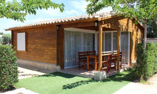 Exterior y terraza del Bungalow Grupo Camping Armanello