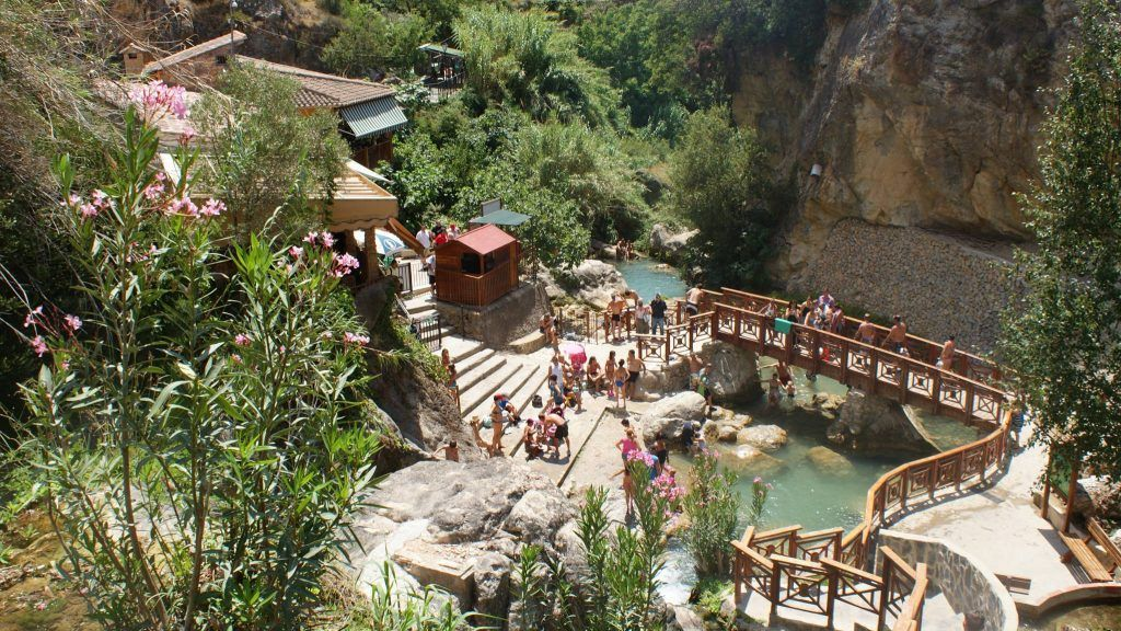 Entrance to Algar Waterfalls, near Benidorm, in Callosa