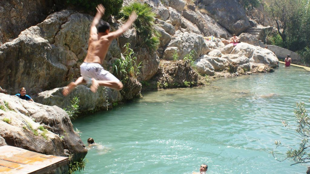 Jump into Algar Waterfalls and enjoy an incredible thing to do near Benidorm