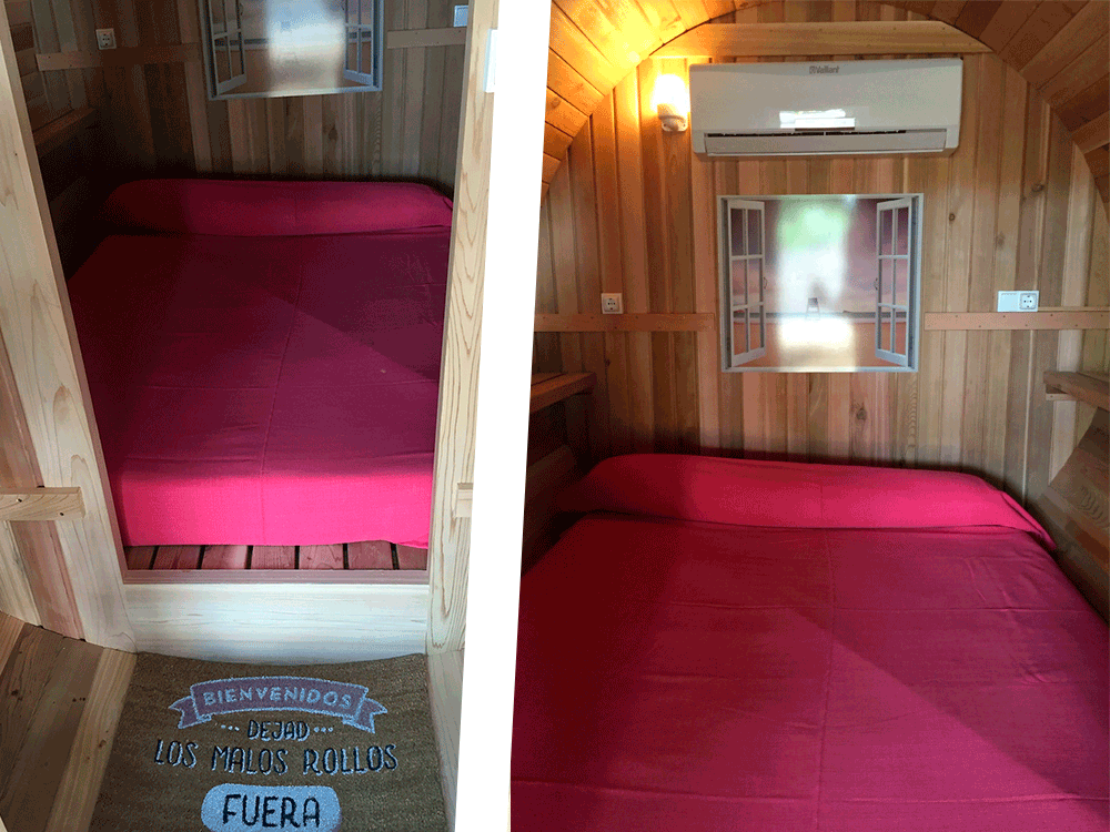 Inside View from Barrel House in Camping Armanello, Benidorm