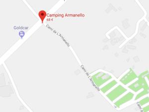 Mapa para llegar al camping en Benidorm
