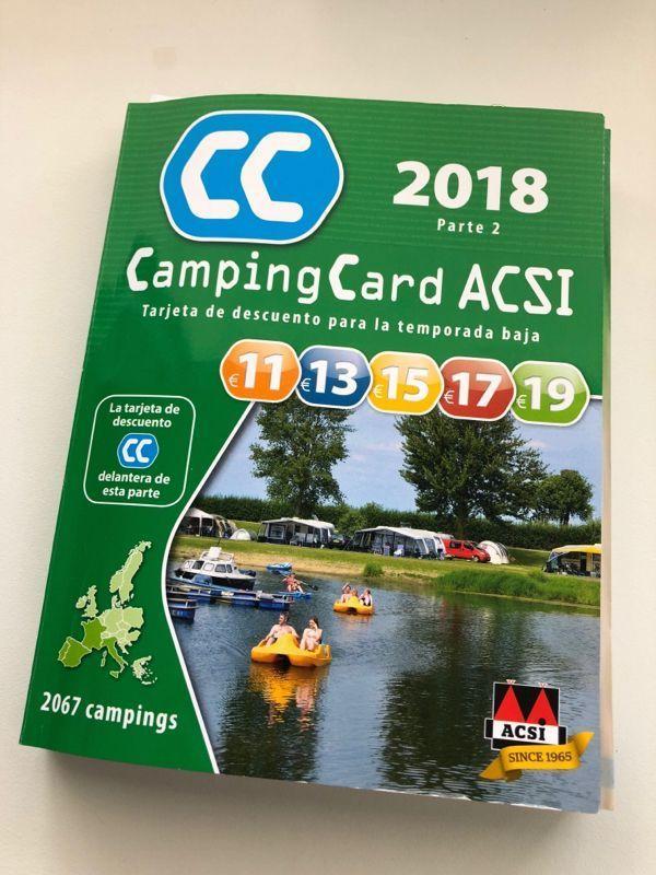 Acsi Karte.Acsi Campingcard In Einem Acsi Camping In Spanien Benidorm