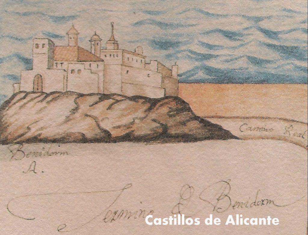 Benidorm Castle in XVIII Century