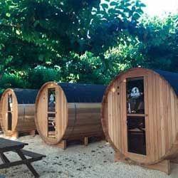 Casa barril en camping