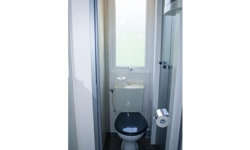 wc de la cabaña del camping