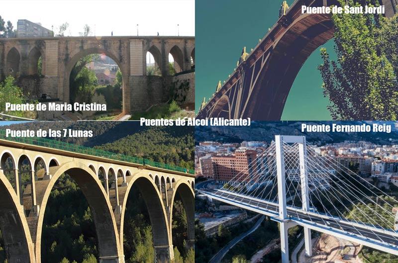 4 puentes principales de alcoy