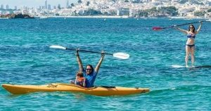 Noleggio kayak vicino a benidorm, punto di vela la bocana