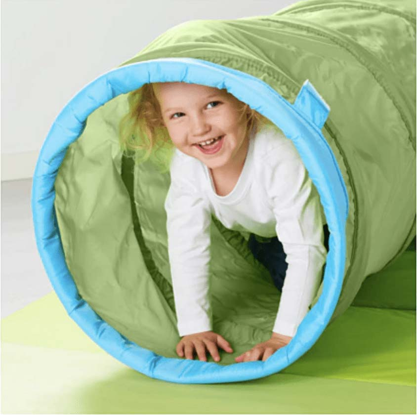 Tienda de campaña tipo tunel para niños de ikea
