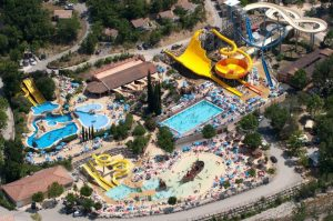 Camping resort with water park