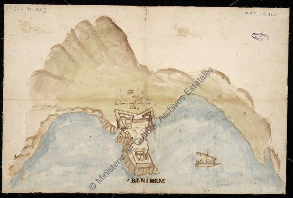 Castillo de benidorm ano 1575
