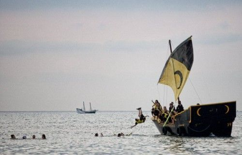 Barcos del desembarco de villajoyosa