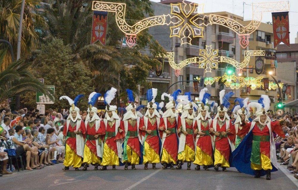 Villajoyosa moors and christians parade