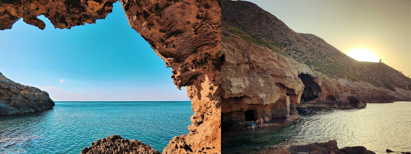 Utsikt over den utskårne hulen og san antonio-kappen