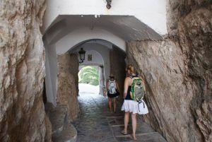 Portal de sant josep eller tilgangstunnelen til guadalest er det første du kan se i guadalest