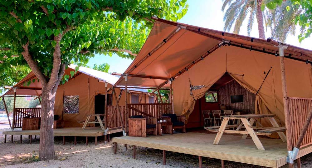 Hébergement en tente safari au camping armanello, benidorm