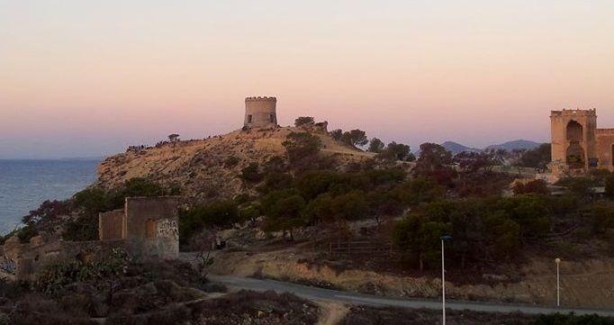 Sunset in the malladeta of villajoyosa