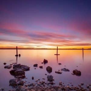 Roze lagune van torrevieja