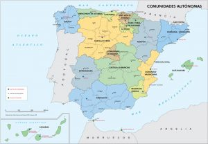 Mapa político de españa con comunidades y provincias