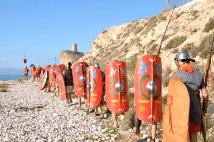 Marche à pied romaine, reconstitution historique festvm alonis la vila joiosa