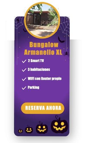 Oferta para halloween en camping con bungalow en benidorm