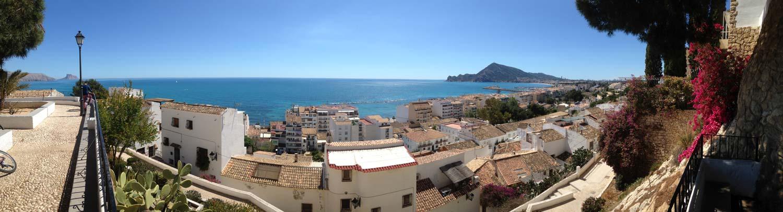 Vista panoramica dal punto di vista del cronistas de altea (alicante)