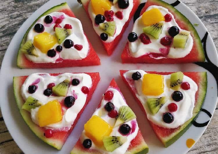 Fruktpizzaoppskrift for barn, ingen ovn
