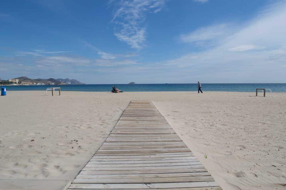 Playa centro de la vila