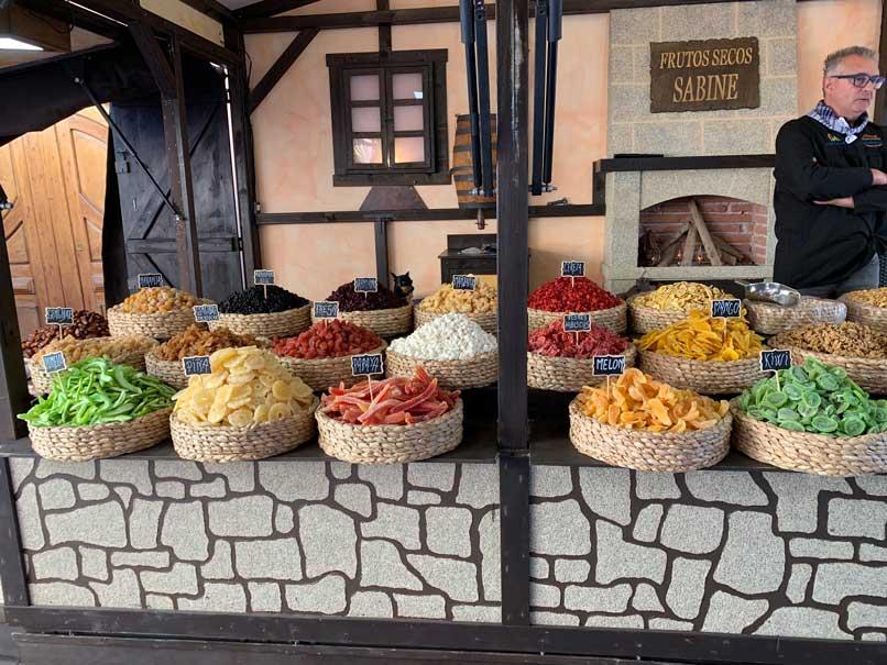 Bancarelle del mercato medievale di finestrat