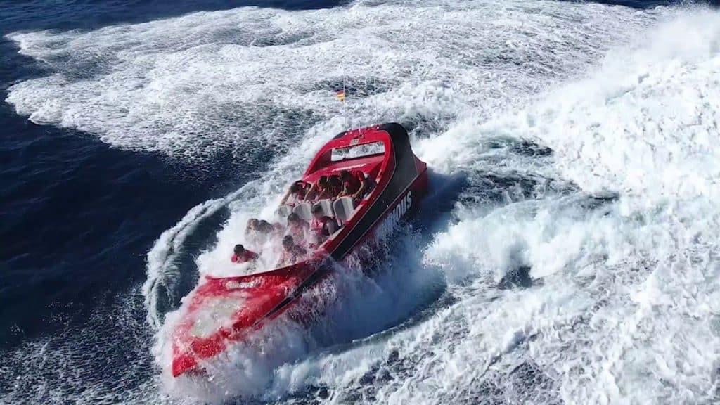 Speedboot voor groepen in benidorm, sea furious