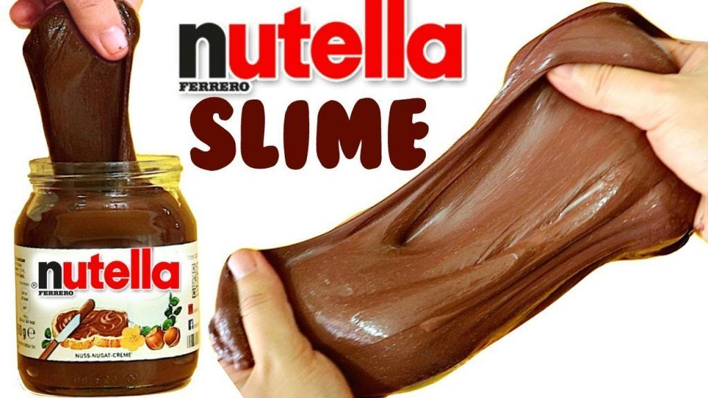 Schleim mit speisestärke und nutella oder kakaocreme