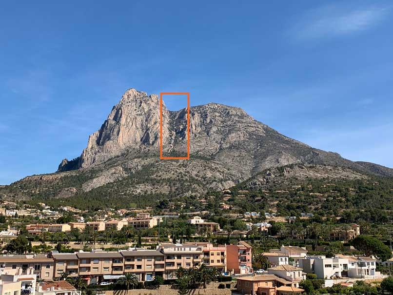 Zona salita verticale 1 km fino a puig campana