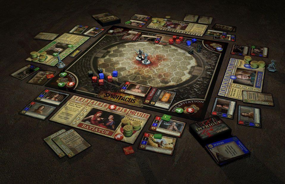 Juego de mesa spartacus, un juego largo pero muy entretenido