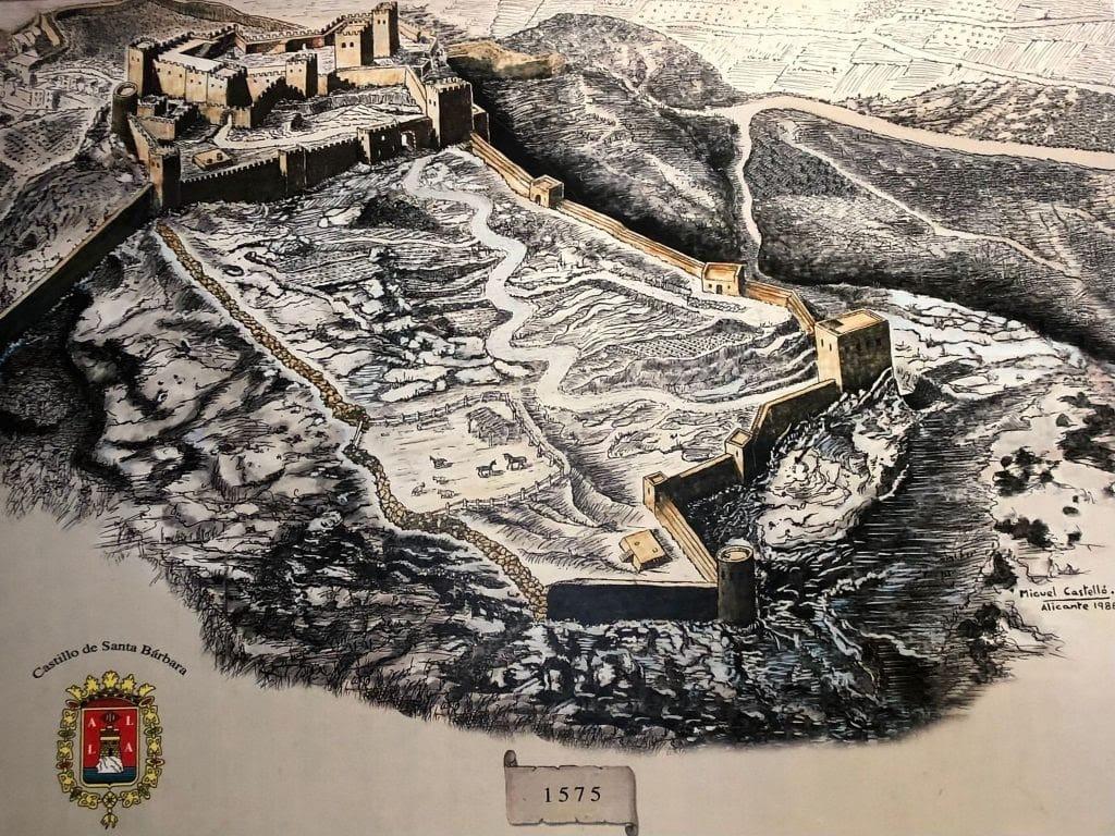 Castillo santa barbara 1575